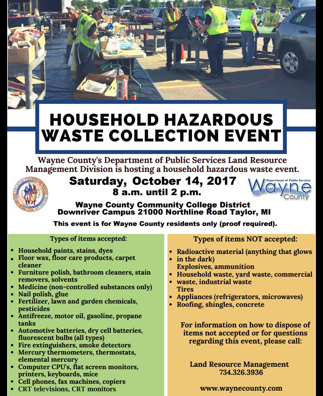 Household Hazardous Waste Days Taylor Mi