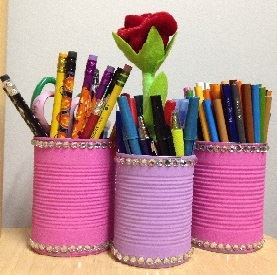 Picture of a DIY decorated pen holder