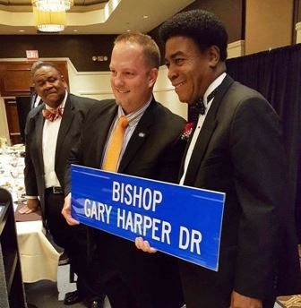 Mayor Sollars at the Bishop Gary Harper Dedication