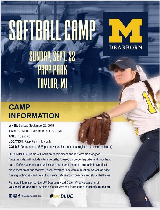 UMD SOFTBALL CAMP 2019