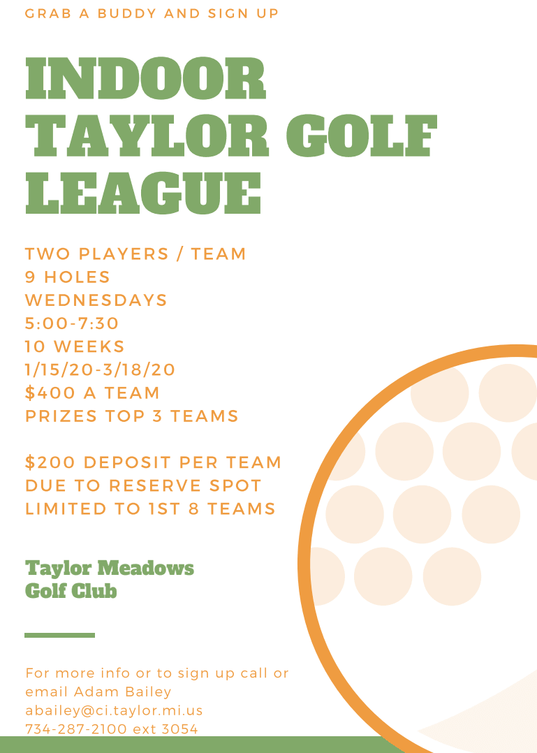 Indoor Taylor Golf Flyer